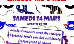 Soirée Carnaval - 24 mars